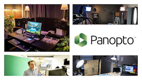 collage of images with panopto logo