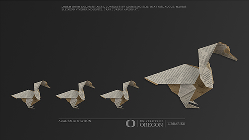 Family of origami ducks (design created by Kevin So)