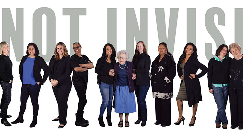 Photograph of diverse group of woman military veterans