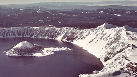 aerial photograph of Crater Lake